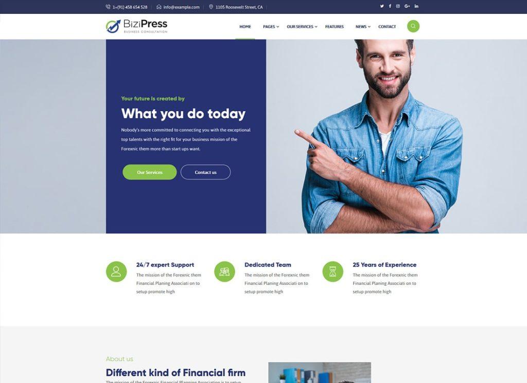 BiziPress    Thème WordPress Finance & Insurance