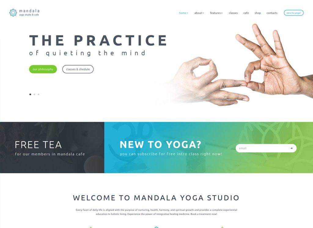 Mandala |  Thème WordPress pour studio de yoga et centre de bien-être