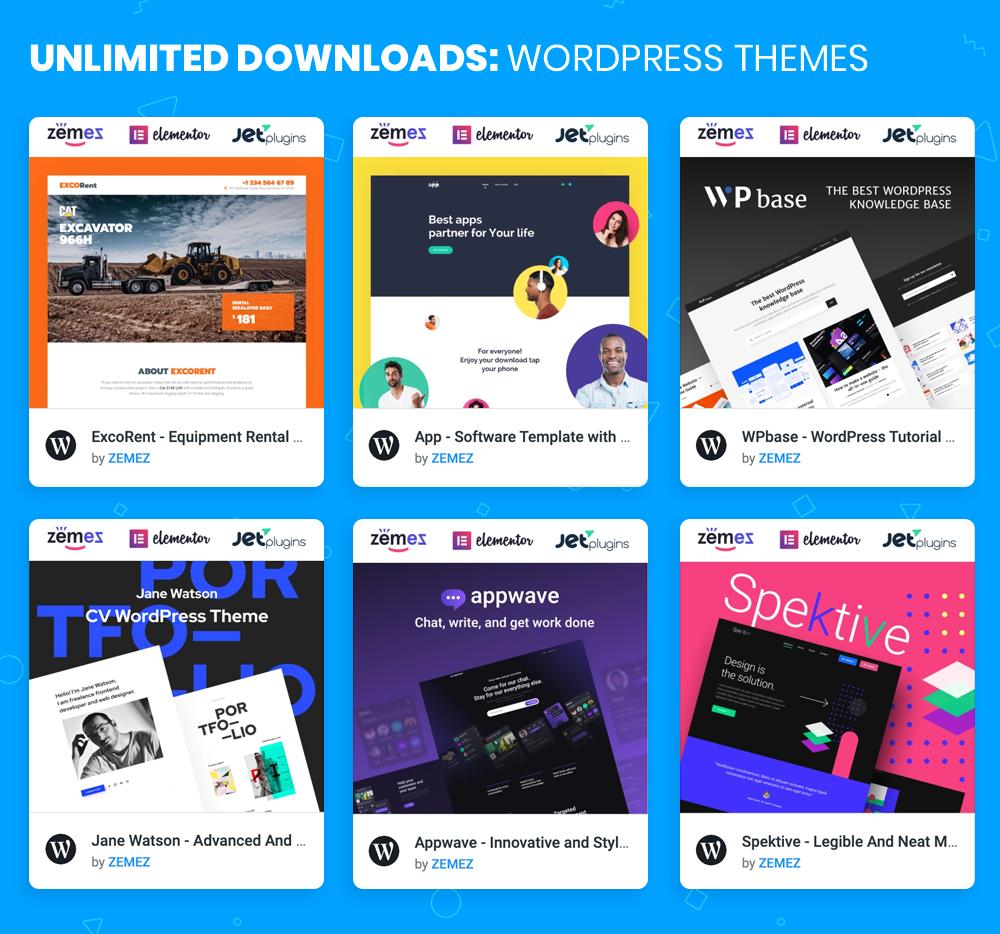 Thèmes WordPress Téléchargements illimités