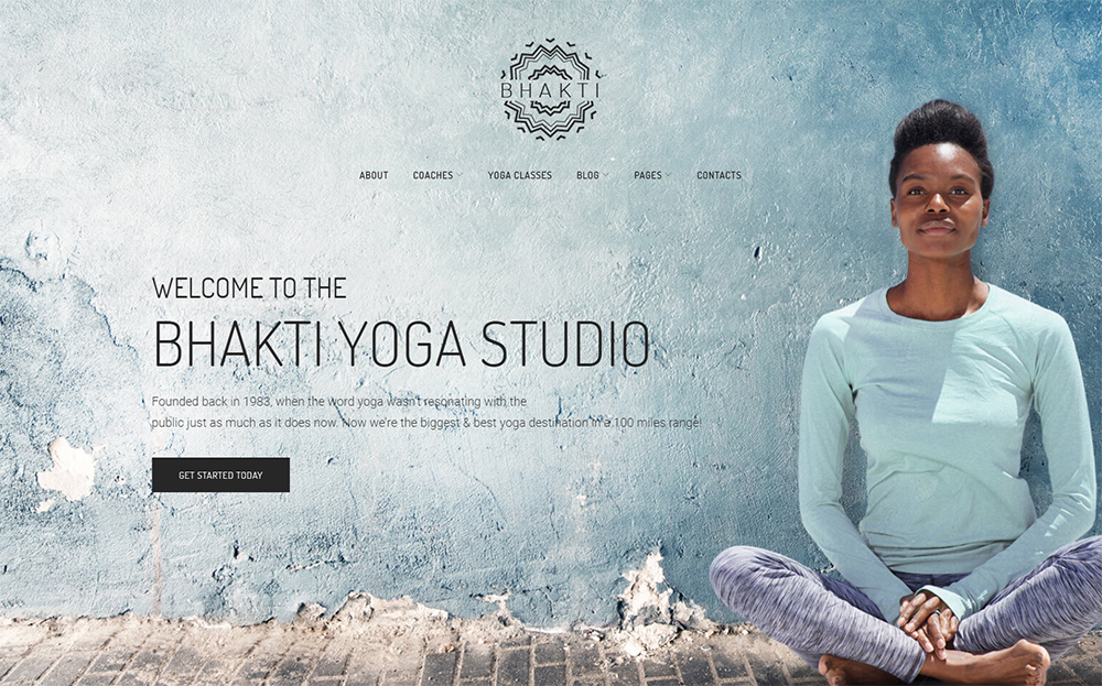 Modèle WordPress de yoga