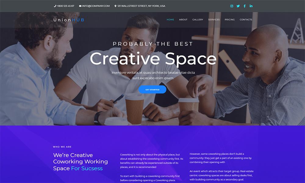 UnionHUB - Thème WordPress pour Coworking Space Elementor