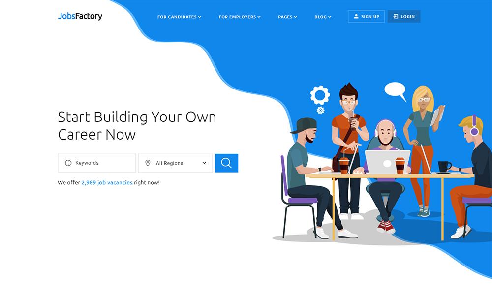 JobsFactory - Modèle d'offre d'emploi