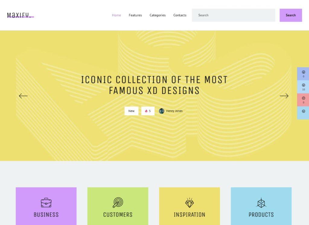 Maxify    Thème WordPress pour le blog de démarrage et d'entreprise