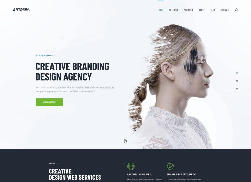 Artrium    Thème WordPress pour agence créative et Web Studio