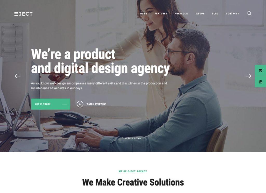 Ejecter    Thème WordPress Web Studio & Creative Agency