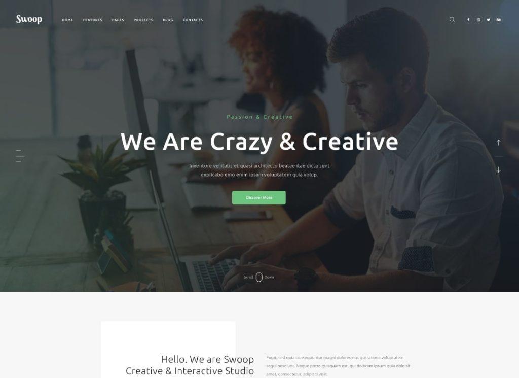 Swoop    Thème WordPress Web Studio & Creative Agency