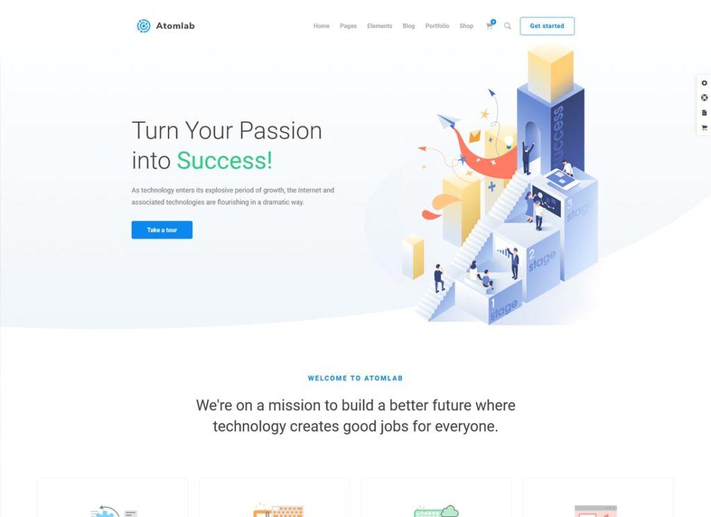 Atomlab    Thème WordPress de démarrage polyvalent