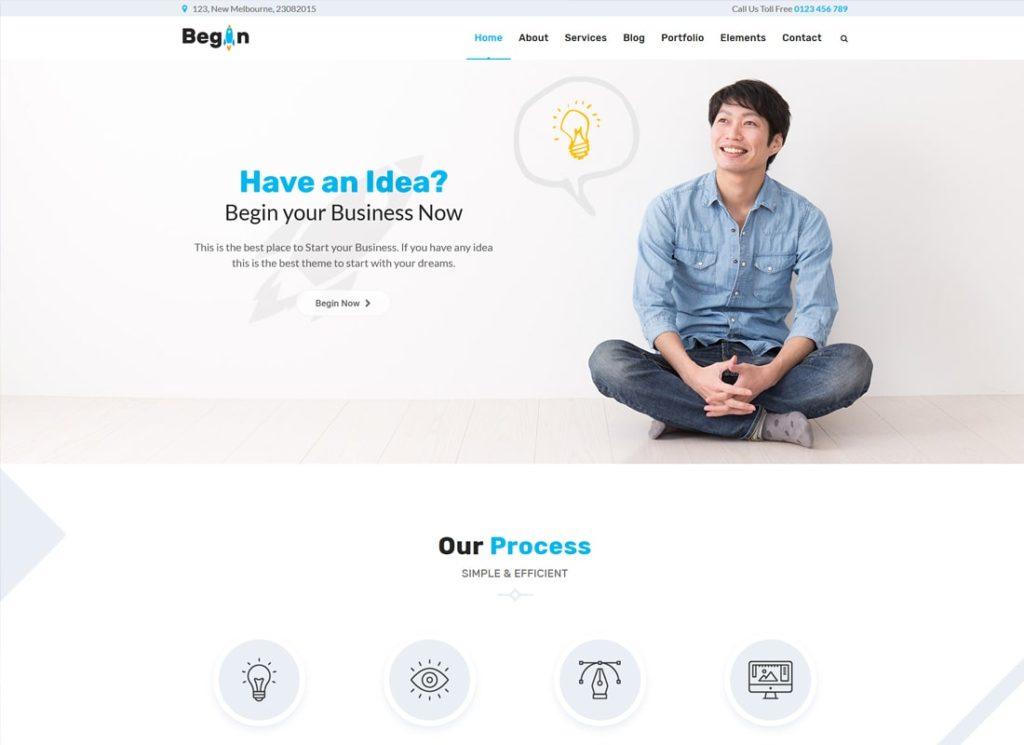 Commencer le démarrage    Thème WordPress Business, Startups