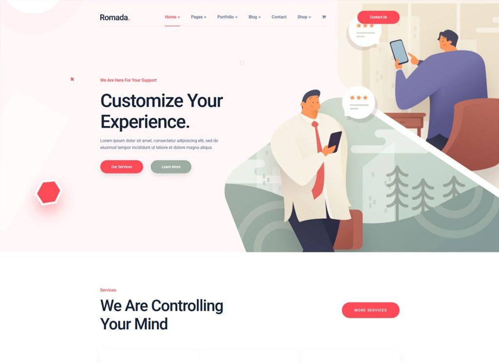 Romada    Thème WordPress pour agence de démarrage
