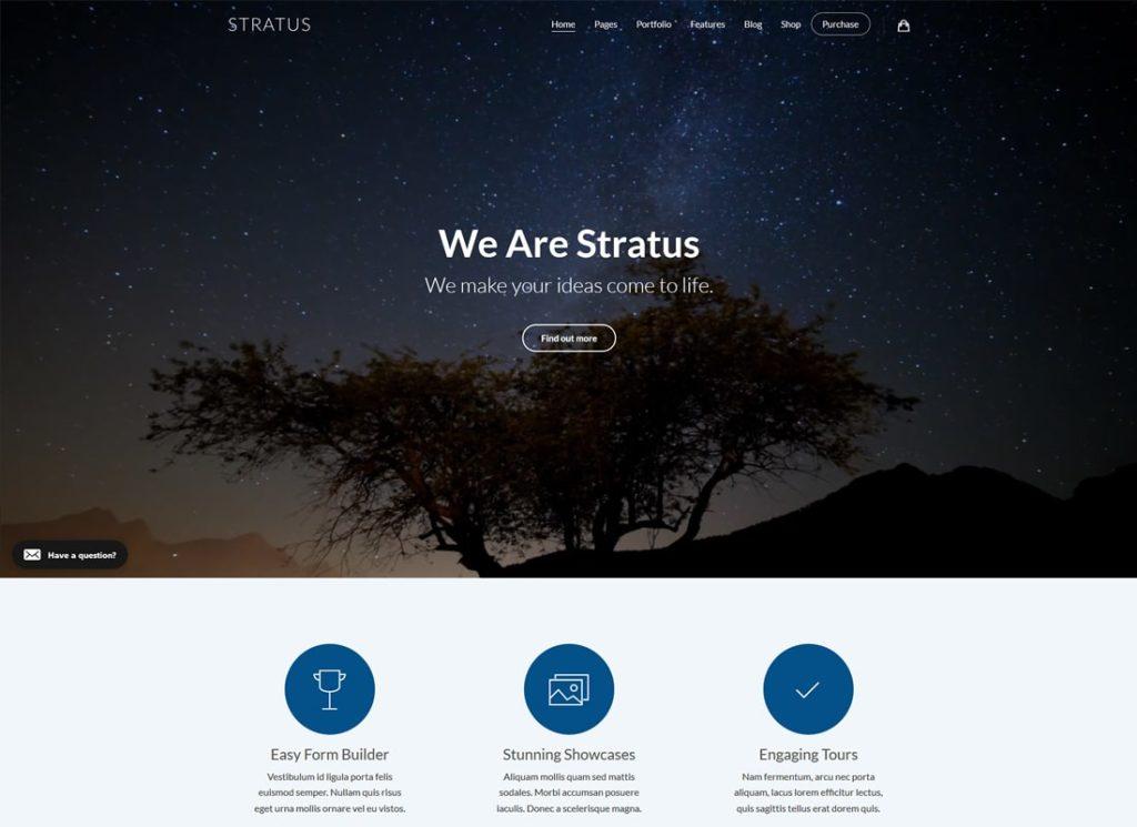 Stratus    Thème WordPress pour applications, SaaS et logiciels de démarrage