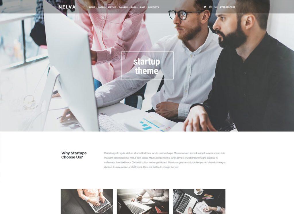 Nelva    Thème WordPress de marketing et de démarrage
