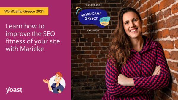 image sociale de Marieke van de Rakt s'exprimant à WordCamp Grèce 2021