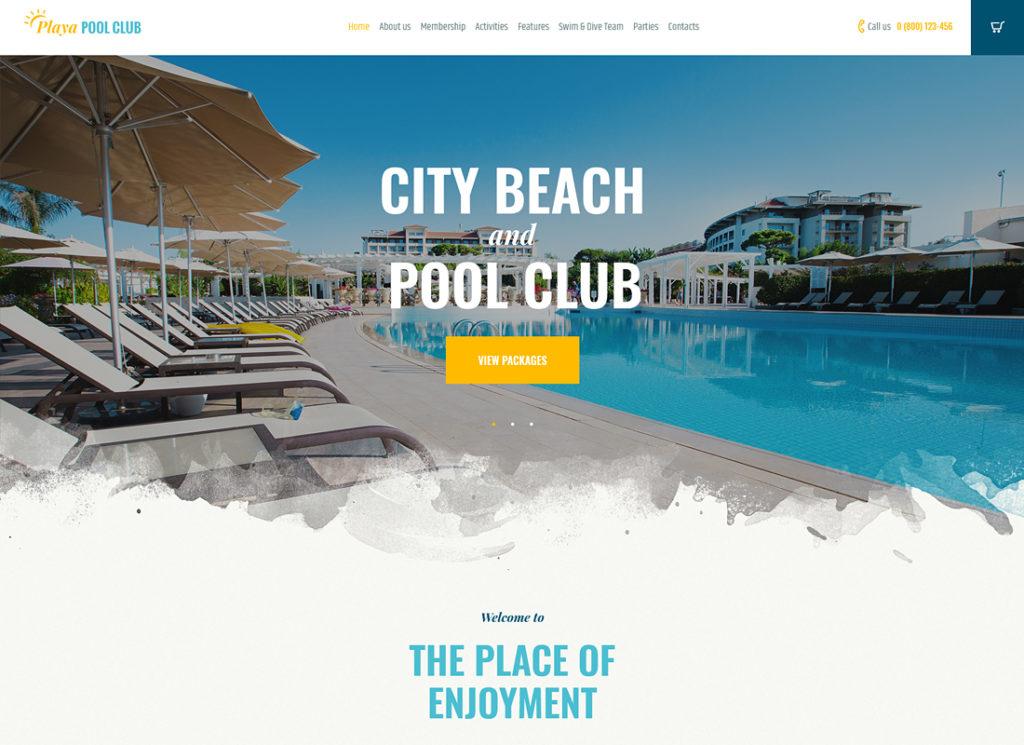 Playa |  Thème WordPress City and Private Beach & Pool Club