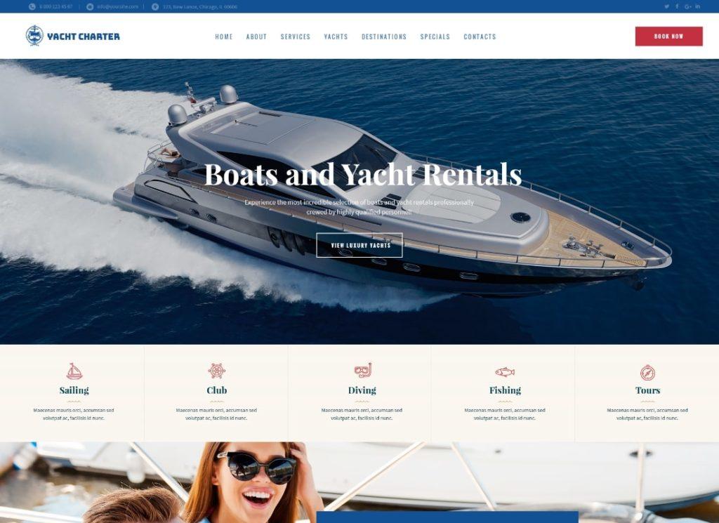 Sirene |  Thème WordPress pour les services de location de bateaux et de location de bateaux