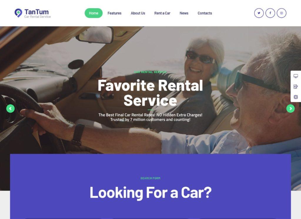 TanTum |  Thème WordPress pour services de location de voitures, de scooters, de bateaux et de vélos