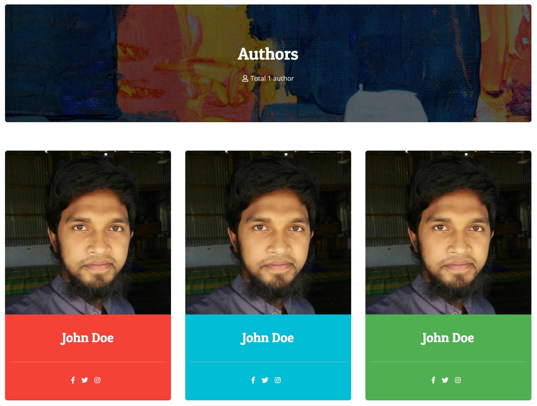 Une grille de trois colonnes de profils de post-auteurs.