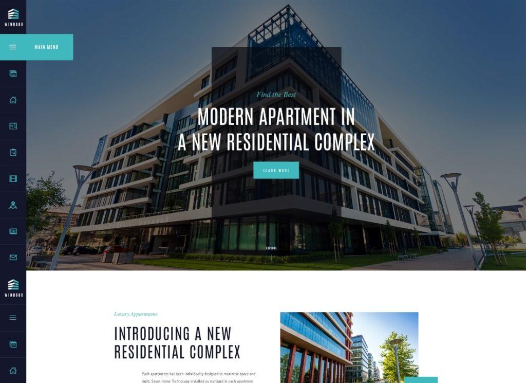 Windsor |  Thème WordPress pour complexe d'appartements / propriété unique