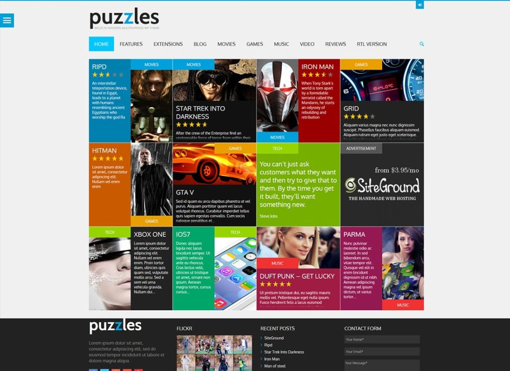 Puzzles |  WP Magazine / Review avec le thème WordPress Store + RTL