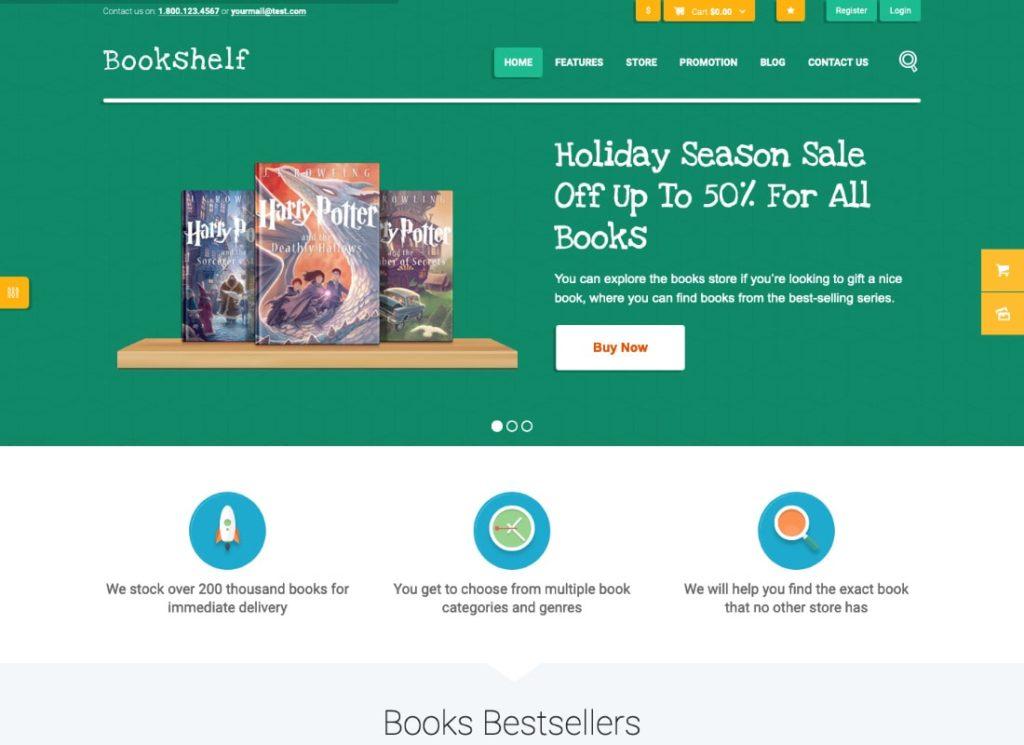 Bibliothèque |  Thème WordPress de la boutique en ligne Livres et médias