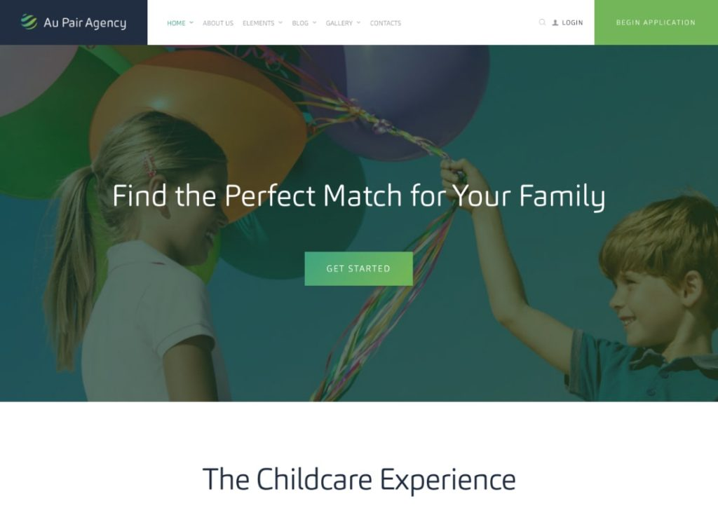 Au-Pair |  Thème WordPress pour Babysitting & Nanny Agency