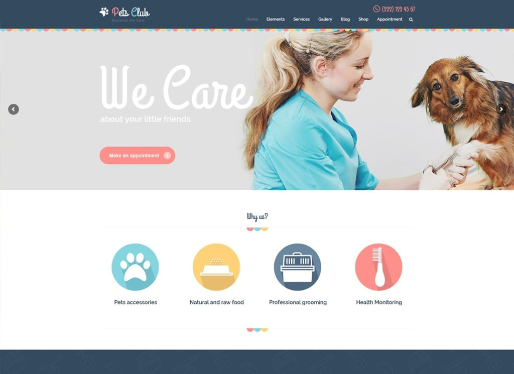 Club des animaux |  Thème WordPress pour animaux de compagnie et élevage vétérinaire