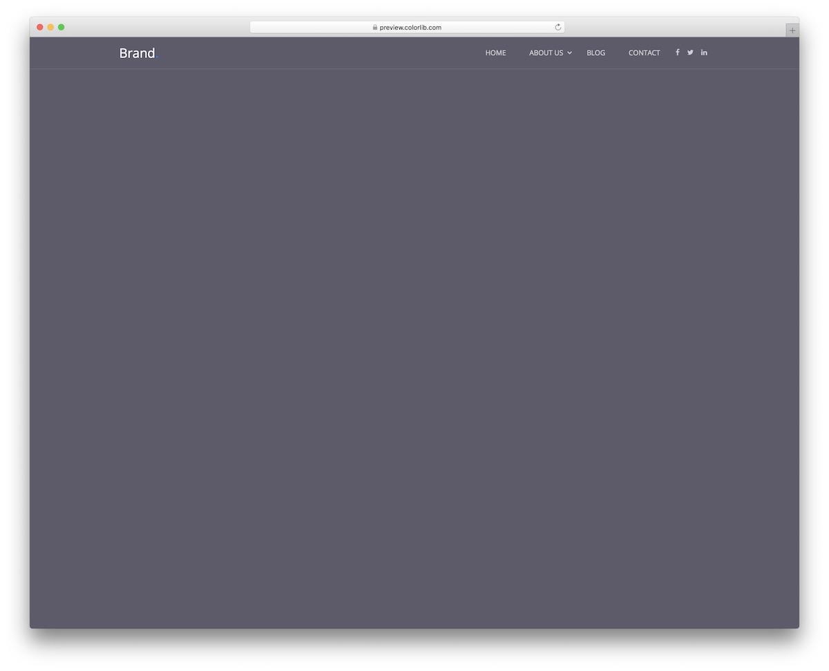 menu du site Web 01