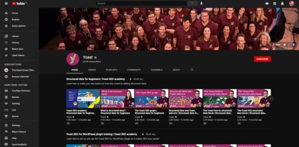 Meilleures plateformes d'hébergement vidéo: YouTube