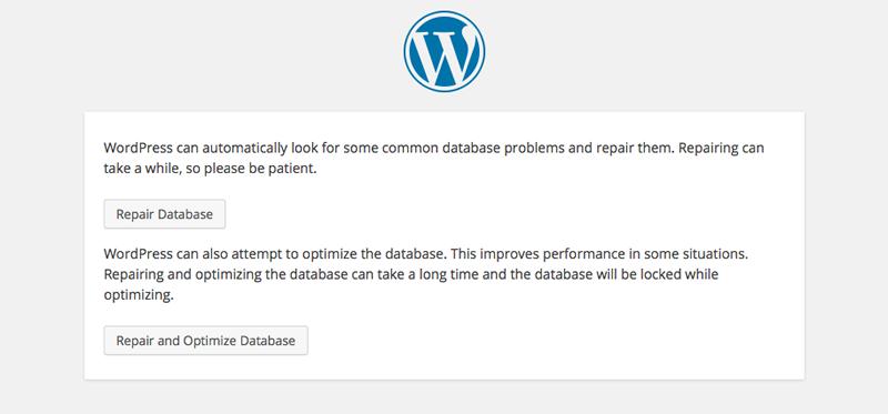 Réparation de base de données WordPress
