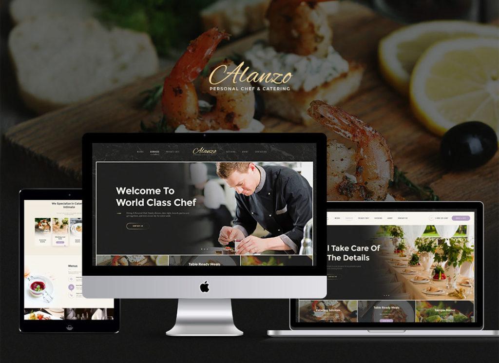 Alanzo |  Thème WordPress de l'événement Personal Chef & Wedding Catering Event