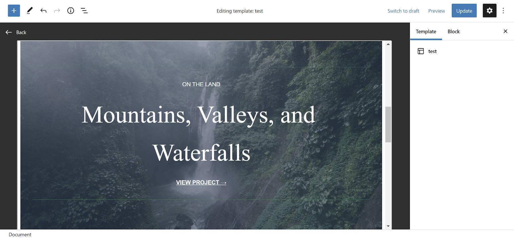 Iframe pour modifier un modèle de publication personnalisé dans l'écran de post-édition.