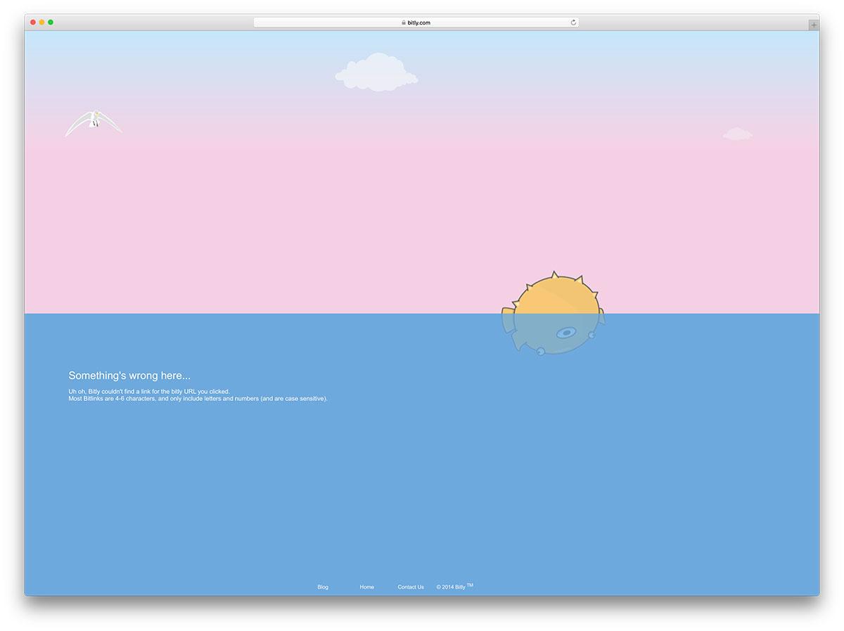 exemple de page d'erreur 404 bitly
