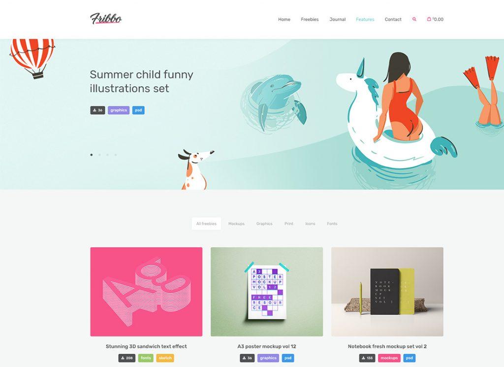 Fribbo |  Thème WordPress du blog Freebies