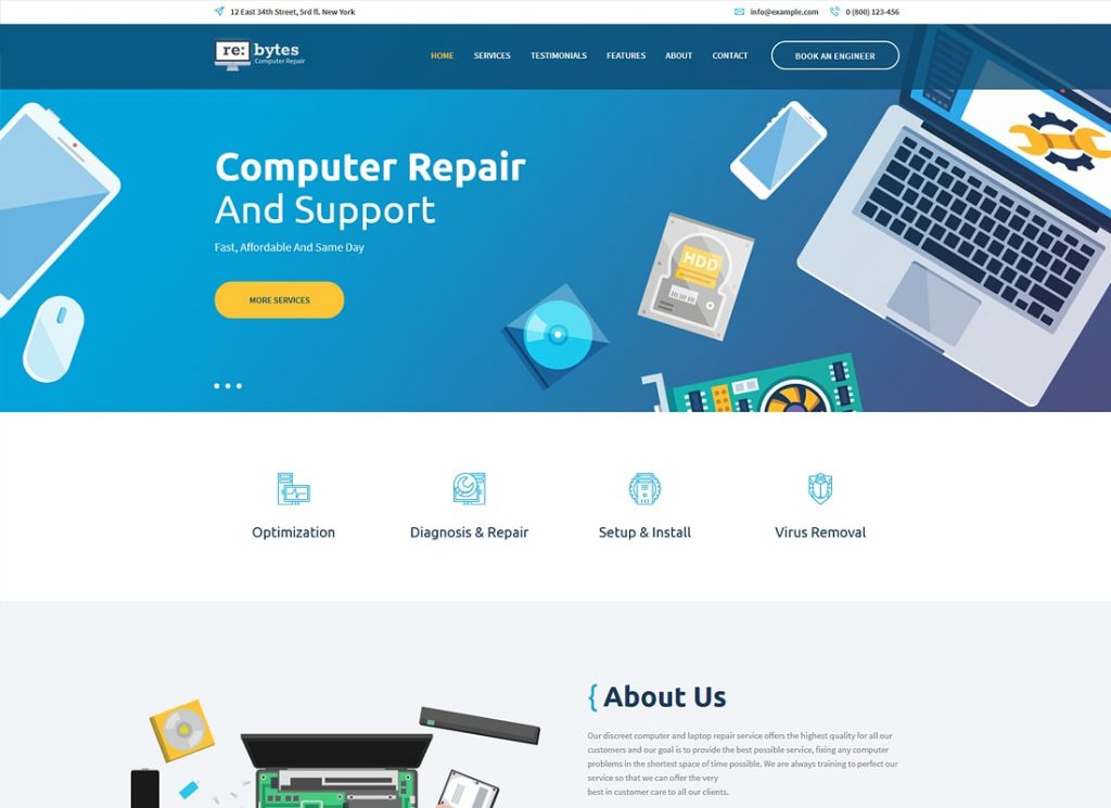 Re: octets |  Thème WordPress pour le service de réparation électronique et informatique