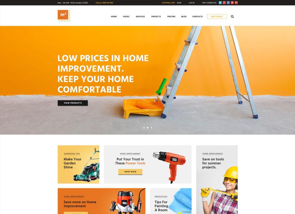 m2 |  Thème WordPress pour les équipements de construction et les outils de construction