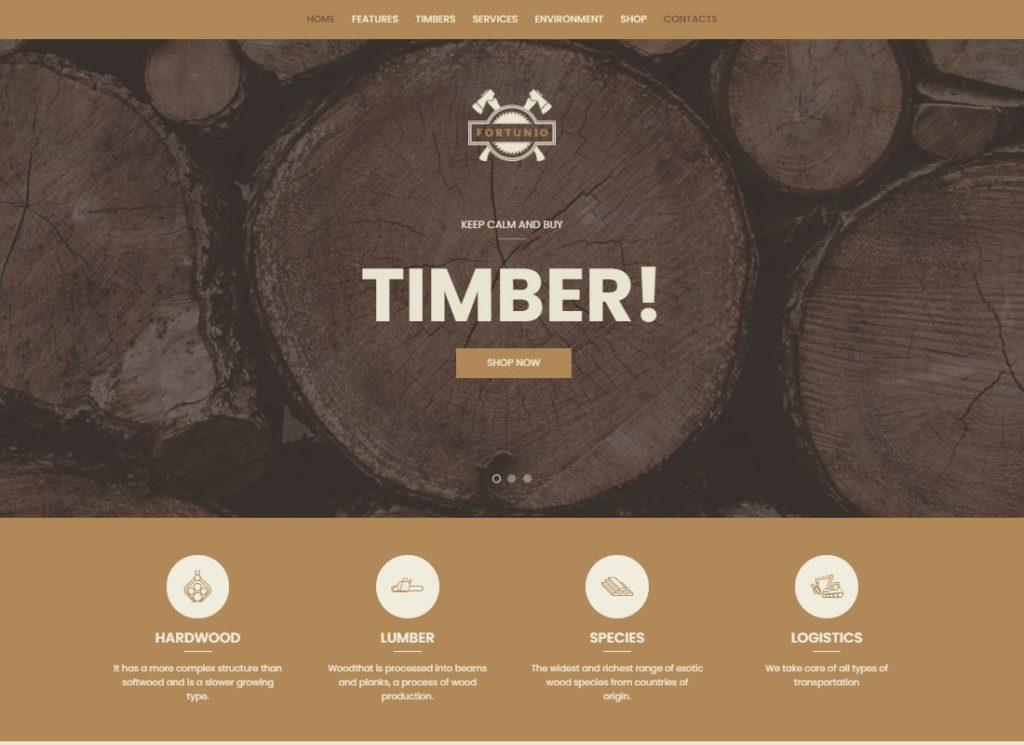 Fortunio |  Thème WordPress pour le bois / la foresterie / la fabrication du bois