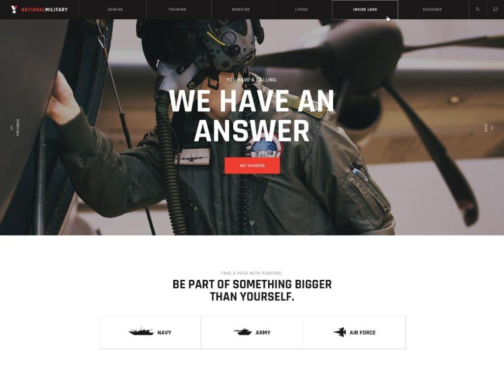 Militarologie |  Thème WordPress de l'armée des vétérans du service militaire et de l'armée