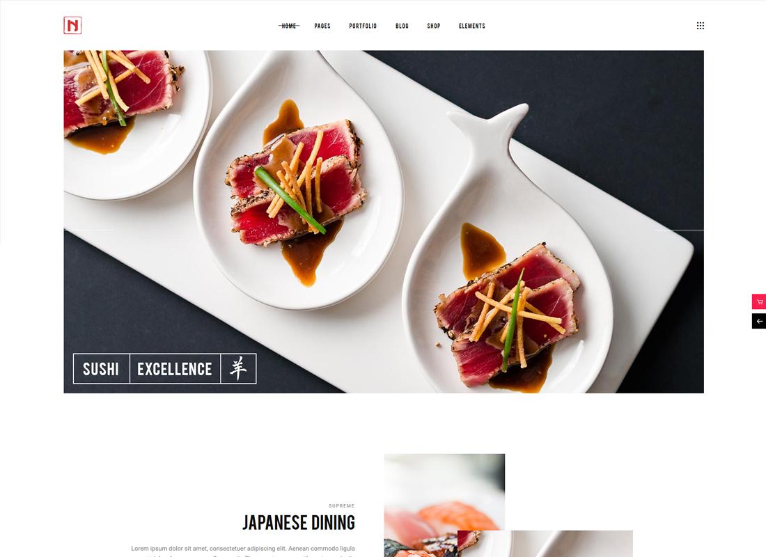 Nigiri - Un thème WordPress de restaurant moderne