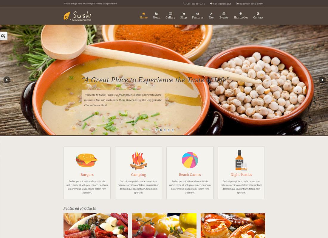 Restaurant de sushis |  Thème de la nourriture et du restaurant