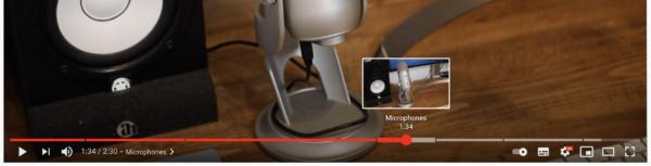 Image montrant des indicateurs d'horodatage dans la barre de lecture d'une vidéo YouTube