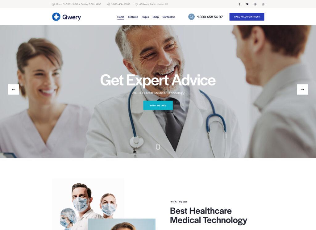 Qwery |  Thème WordPress professionnel polyvalent + RTL