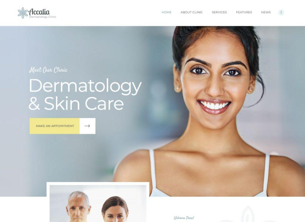 Accalia |  Clinique de dermatologie et centre de cosmétologie Thème WordPress médical