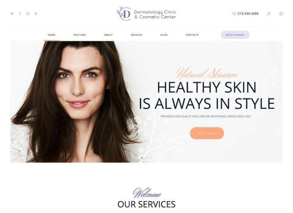 D&C |  Thème WordPress pour clinique de dermatologie et centre de cosmétologie
