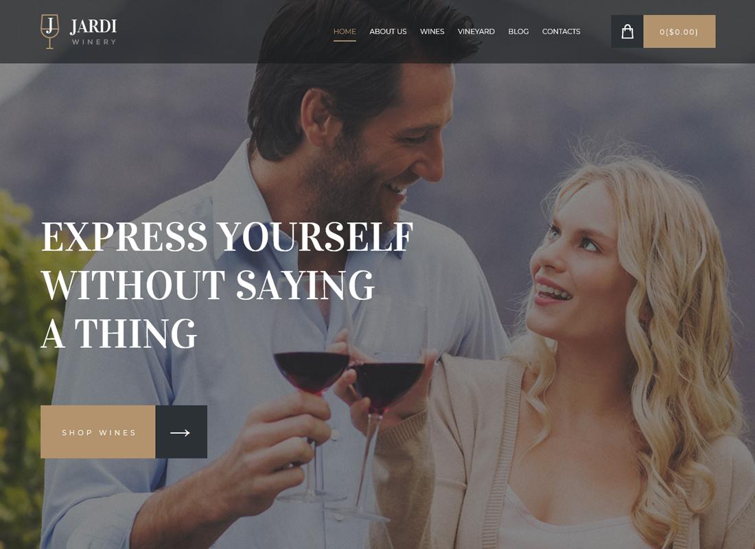 Jardi - Thème WordPress pour vignobles, vignobles et magasins de vin