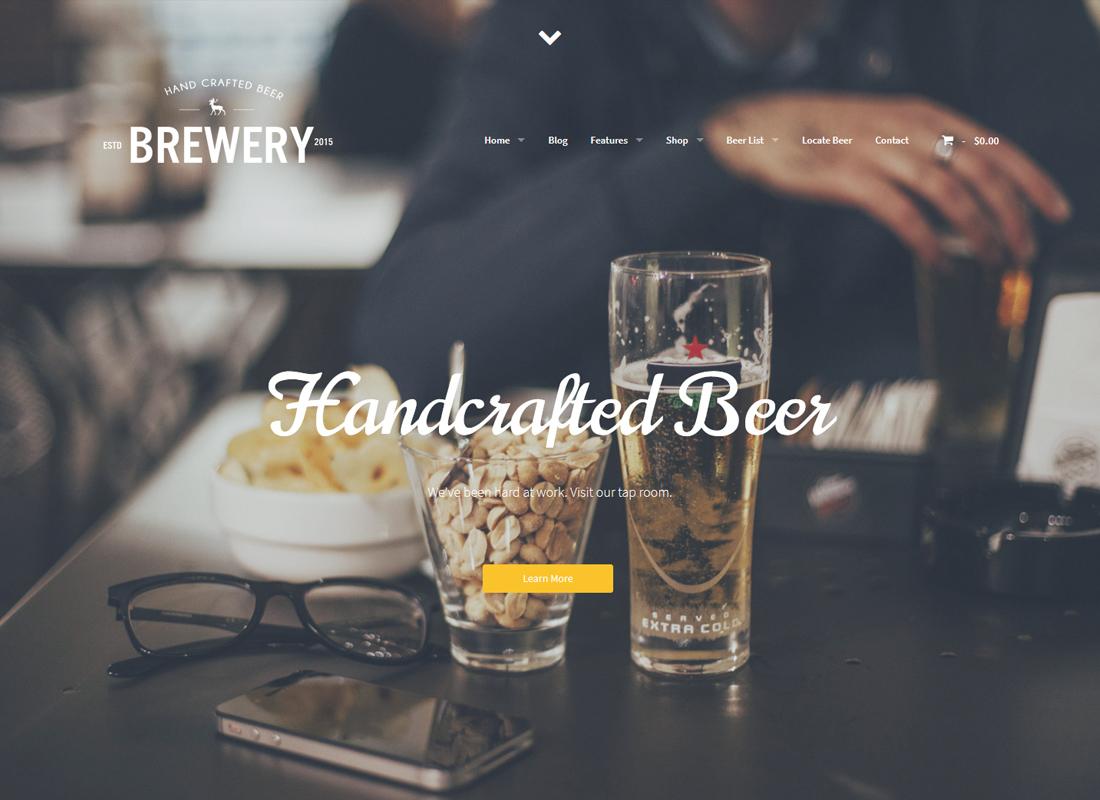 The Brew House - Thème WordPress pour brasserie / pub / restaurant