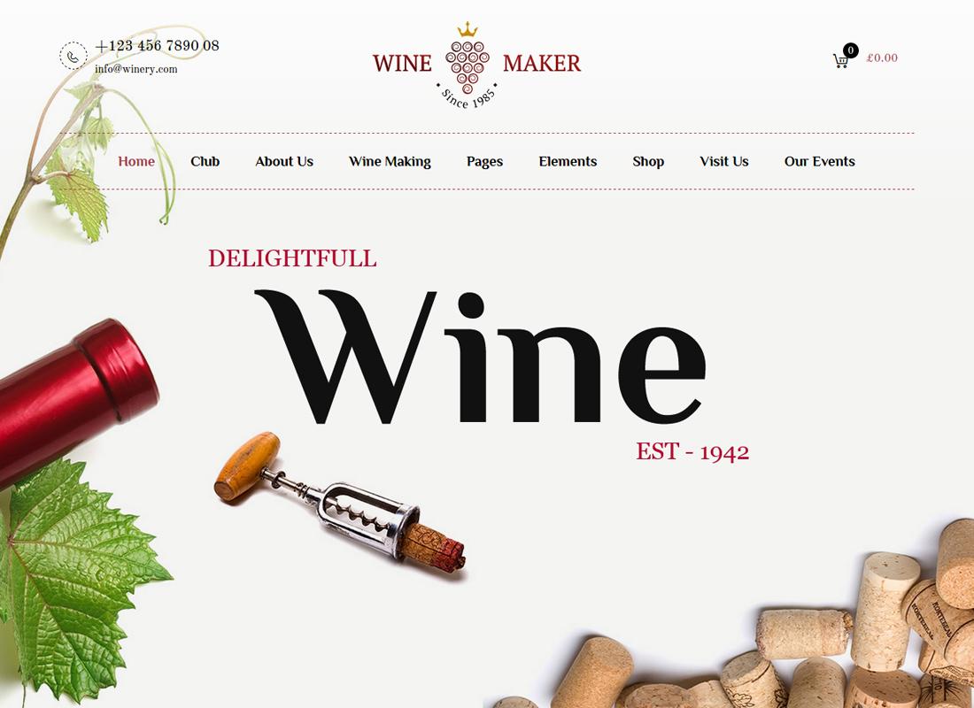 Wine Maker - Vin, Thème Winery