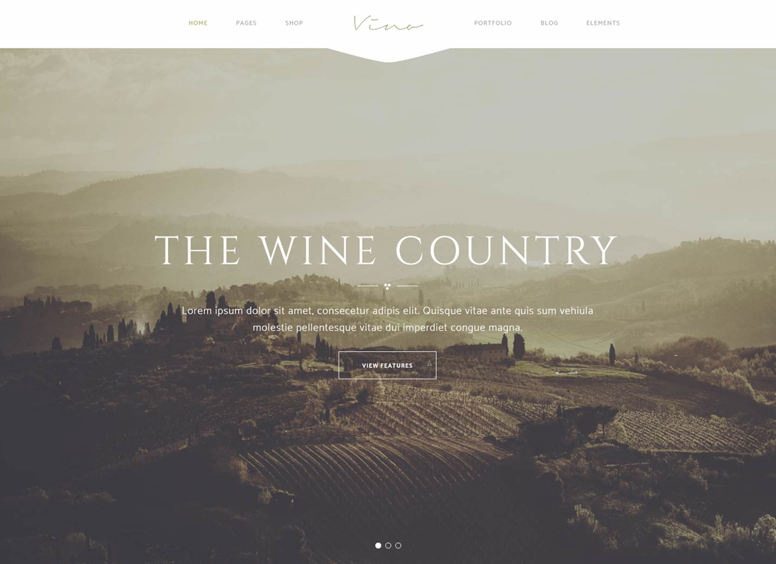 Vino - Une cave raffinée, un bar à vin et un thème de vignoble