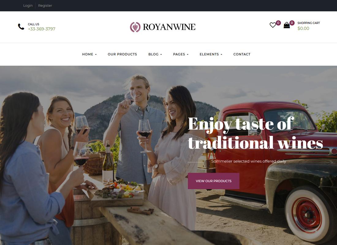 Thème WordPress pour vignobles, vignobles, cavistes et fermes laitières