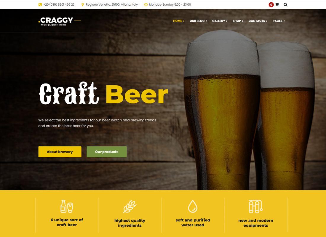 Craggy - Thème WordPress polyvalent
