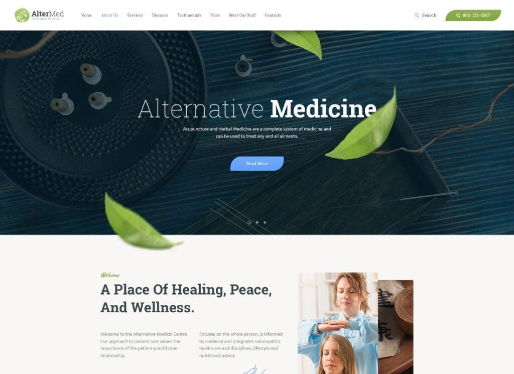 Avicenne |  Thème WordPress pour docteur en médecine populaire alternative + boutique