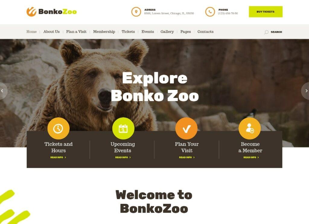 Bonko |  Thème WordPress Safari & Zoo